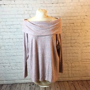 New a.n.a cowl or off shoulder rose sweater. XL